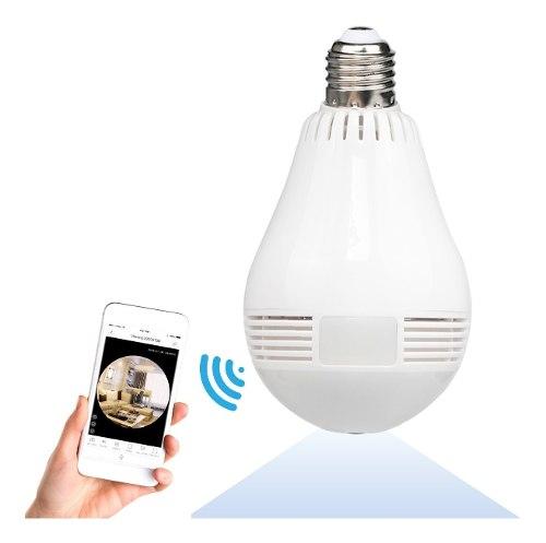 Foco Camara Espia Seguridad Oculta Wifi 360 Vision Nocturna