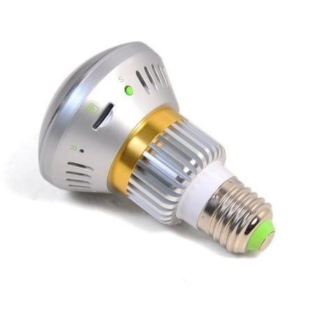 Foco Espia Mini Camara Vision Nocturna Sensor Movimien Wifi