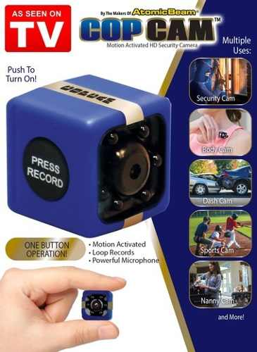 Mini Camara De Seguridad Espia Cop Cam Incluye Sd 32gb