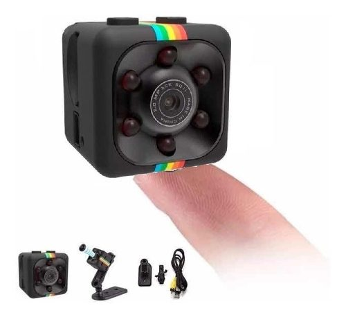 Mini Camara Espia Vision Nocturna Full Hd Det Movimiento Sq1