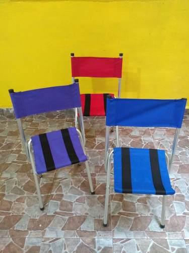 Silla Plegable De Lona, Ideal Para Playa, Jardin, Etc..