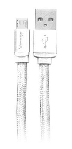 Vorago Cab-113 Cable Usb A Micro Usb 1m En Bolsa Blanco