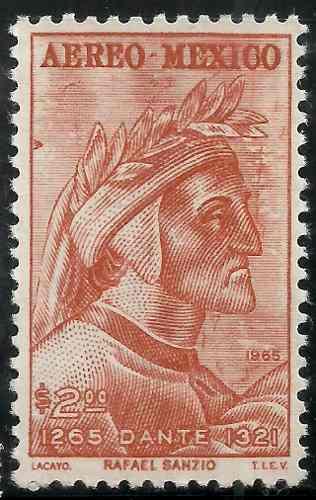 ° Aniv Nacimiento Dante Alighieri Escritor Sc C308