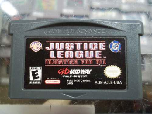 Justice League Injustice For All Game Boy Advance Gba