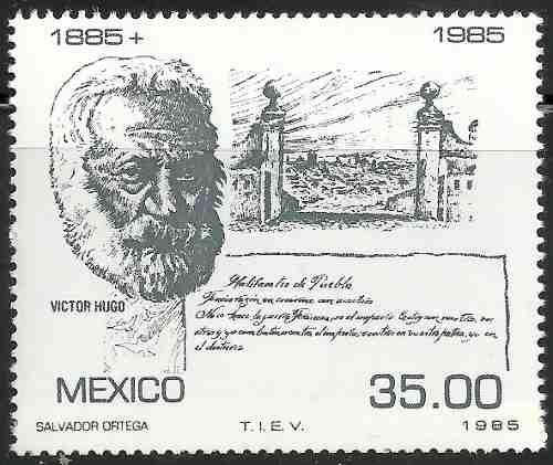 Mèxico Victor Hugo Escritor Los Miserables Sc  Mnh