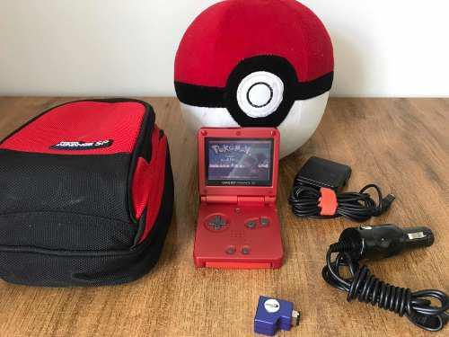 Nintendo Gameboy Advance Sp Rojo Con Accesorios