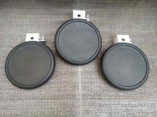Set De 3 Pads Roland Pd7 Doble Zona Para Bateria Electrica