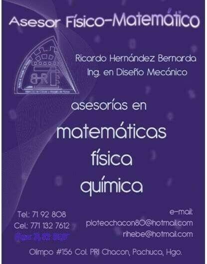 CLASES DE MATEMÁTICAS, FÍSICA Y QUÍMICA.