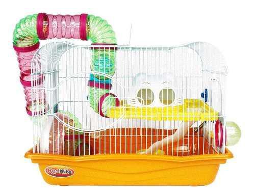 Jaula Habitat Casa Fresno 3 Para Hamsters O Gerbo 45x30x33