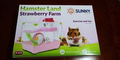 Sunny Jaula Hamster Land Strawberry Farm Sp3645 33.5x23.7x35