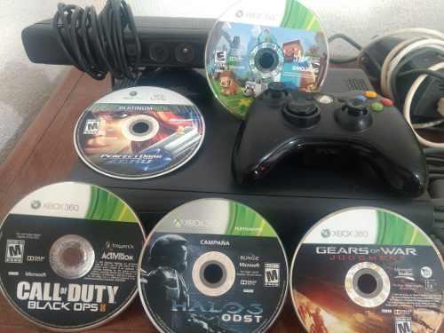 Xbox 360,mas 8 Discos Originales,un Control Y Cables