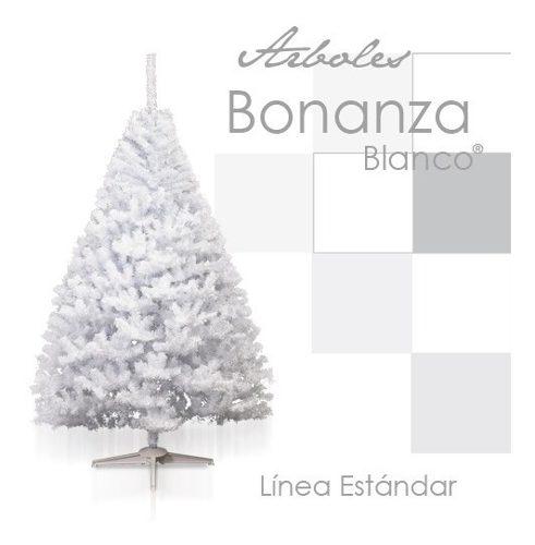 Arbol Pino De Navidad Artificial Blanco 2.20 Metros Bonanza