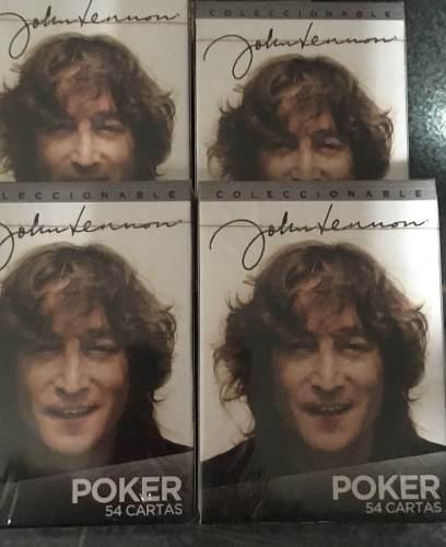 Baraja Cartas Poker Coleccionable Beatles Lenon Madona Pinkf