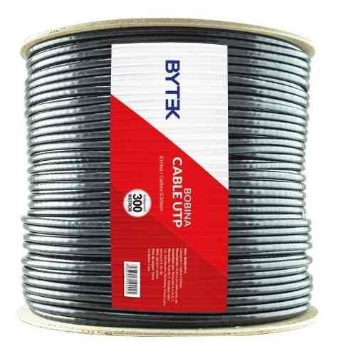 Cable De Red Utp Bobina De 300m. Blindando Cat5e Prueba Agua