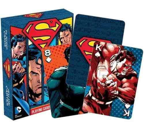 Cartas Superman Dc Comics Aquarius Baraja Naipes Poker