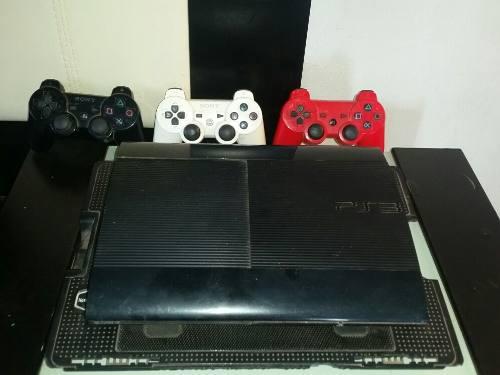 Consola Play Station 3 Super Slim Con 2 Controles Y 15 Juego