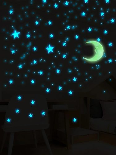 Estrellas Y Luna Fluorescentes Fosforecentes De 103 Piezas