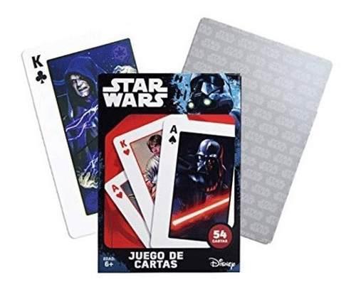 Juego Baraja Poker Cartas Star Wars Coleccionable Con Caja