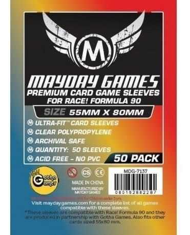 Mayday Micas Race! Formula 90 Premium 55x80mm Pack 50