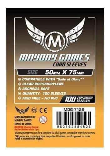 Mayday Micas Sails Of Glory 50x75mm Transparentes Pack 100