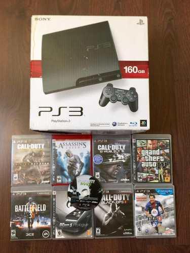 Playstation 3 Incluye Call Of Duty Black Ops 2 + 8 Juegos