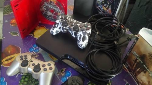 Playstation 3 Ps3 Slim 2 Controles Y 3 Juegos