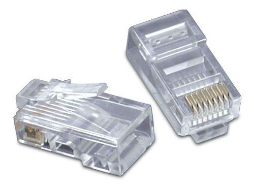 Plug Conector Rj45 Para Cable Red Utp Cat 6 Bolsa 100piezas