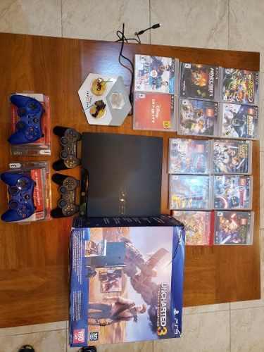 Ps3 160gb Edición Uncharted 3, 12 Juegos, 4 Controles