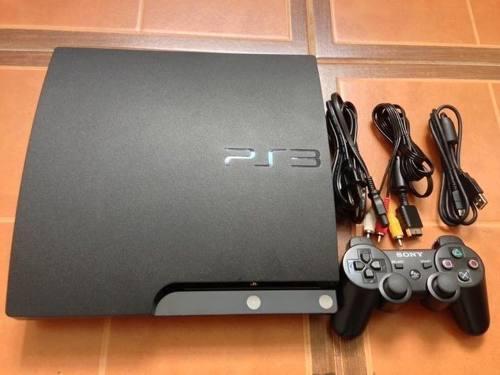 Ps3 Slim 120 Gb, Con 1 Control Y Cables, No Envios