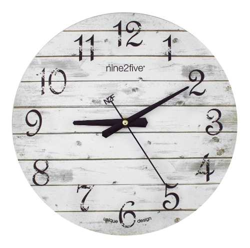 Reloj De Pared Nine2five, Pvge01gr Mov Silencioso Watch It