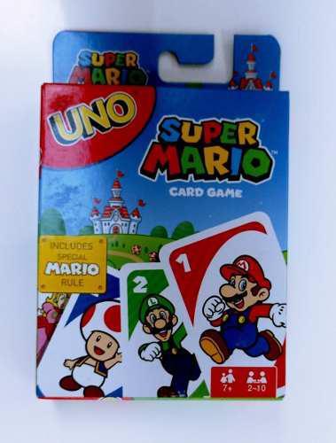 Uno Edición Super Mario Juego De Cartas Nuevo Sellado