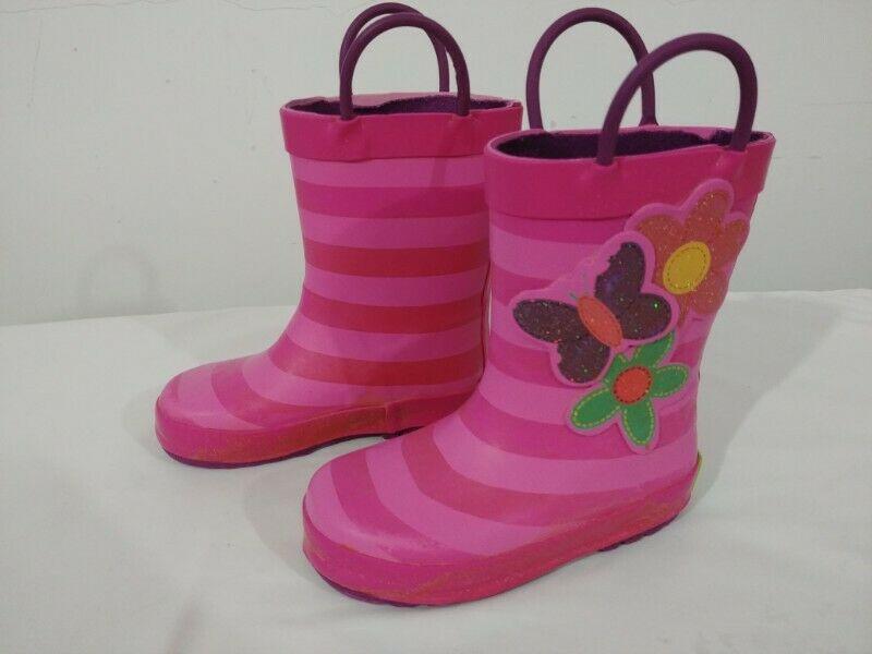 Botas para lluvia color rosa, Talla:  cm aprox.), en