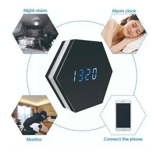 Camara Espia De Seguridad Reloj Despertador Hd Alarma