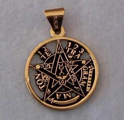 Dije Tetragrammaton Chapa Oro 18k Mawiluz Wicca Celta Bruja
