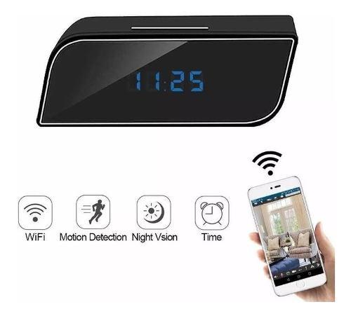 Reloj Despertador Camara Espia Seguridad Mini Wifi Oculta