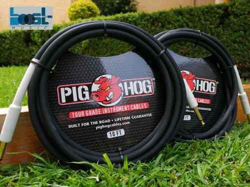 2 Cables Para Guitarra Eléctrica De 3 Metros Pig Hog