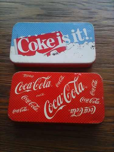 2 Cajtas De Lamina De Coca Cola Para Coleccionistas