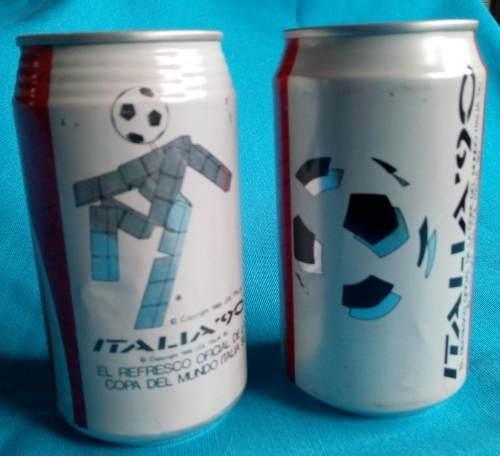 2 Latas De Coca Cola Mundial Italia 90