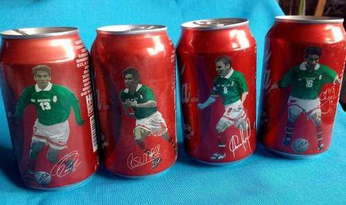 4 Latas De Coca Cola Selección Mexicana De Futból