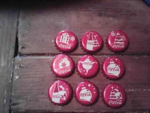 9 Corcholatas De Coca Cola De Navidad Para Coleccionistas