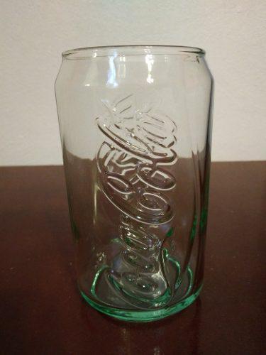 Antiguo Vaso Cocacola En Forma De Lata De Coca Troquelado