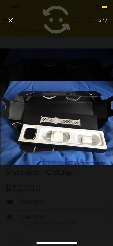 Apple watch nike 44 mm series 4 silver
