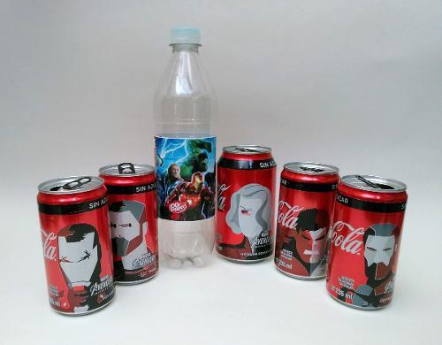 Avengers Infinity War Coca Cola Latas Lote Cine