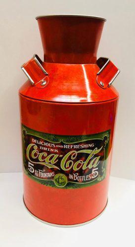 Bote Lechero Diseño De Coca Cola En Aluminio De Colección