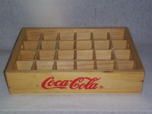 Cajita De Madera Coca Cola Para 24 Botellitas De Soda