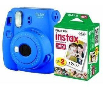 Camara Fuji Instax Mini 9 Azul Cobalto + 20 Peliculas