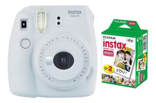 Camara Fuji Instax Mini 9 Blanco Humo + 20 Peliculas Nueva