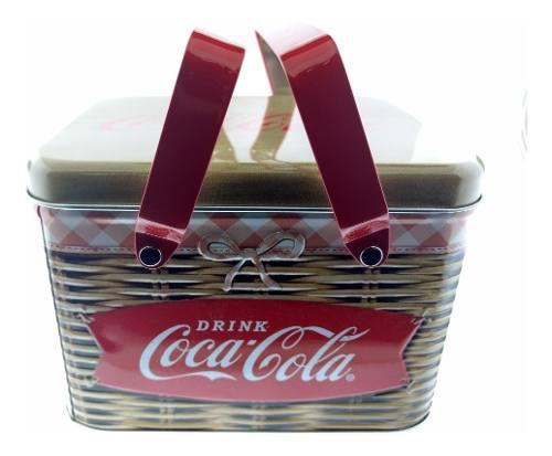 Canasta De Metal Coca Cola Lonchera