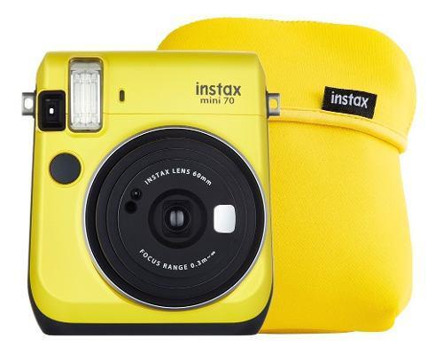 Cámara Instantánea Fujifilm Instax Mini 70 Amarilo Más