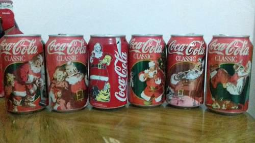 Coca Cola Lote De Latas Vacias Navidad 80s